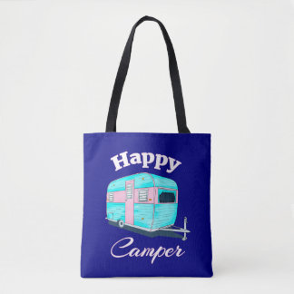Happy Camper Trailer Camping Tote Bag
