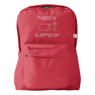 Happy Camper (wht) Backpack