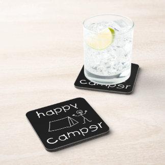 Happy Camper (wht) Coaster