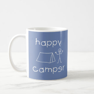 Happy Camper (wht) Coffee Mug