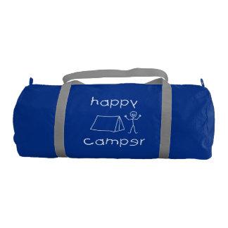 Happy Camper (wht) Gym Bag