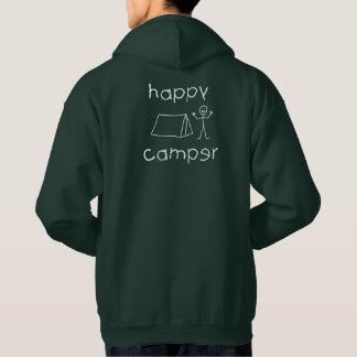 Happy Camper (wht) Hoodie