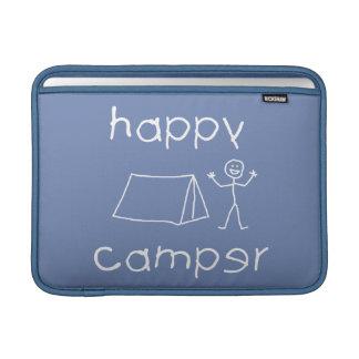 Happy Camper (wht) MacBook Sleeve
