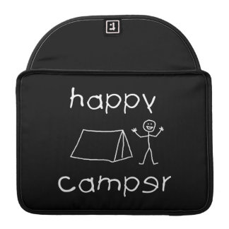 Happy Camper (wht) Sleeve For MacBooks