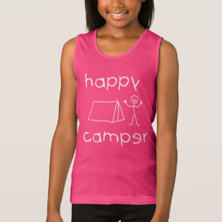 Happy Camper (wht) Tank Top