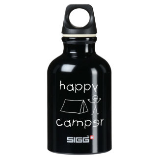 Happy Camper (wht) Water Bottle