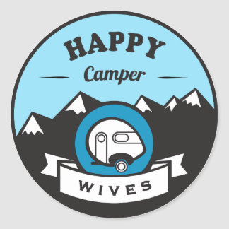 Happy Camper Wives - 3inch Sticker