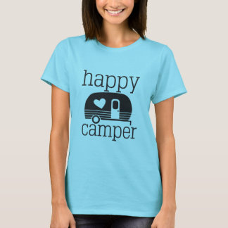 Happy Camper Womens T-Shirt