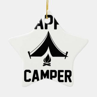 Happy Campers Ceramic Ornament