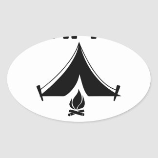 Happy Campers Oval Sticker