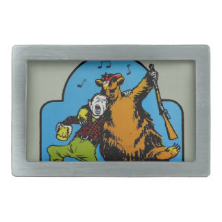 Happy Campers Personalized Rectangular Belt Buckle