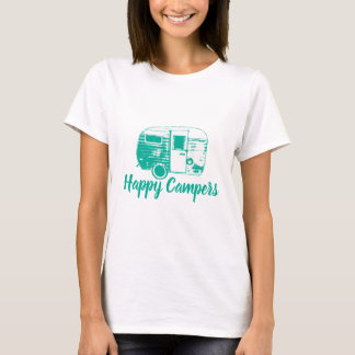 Happy Campers Retro Camping Trailer T-Shirt