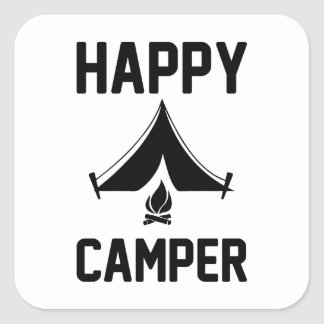 Happy Campers Square Sticker