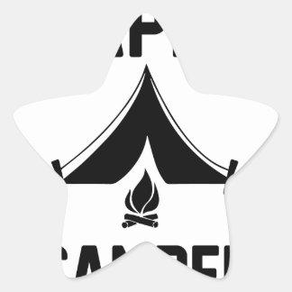 Happy Campers Star Sticker