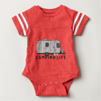 Happy camping life with cute Frenchies Baby Bodysuit