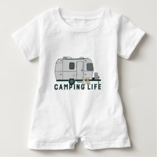 Happy camping life with cute Frenchies Baby Romper