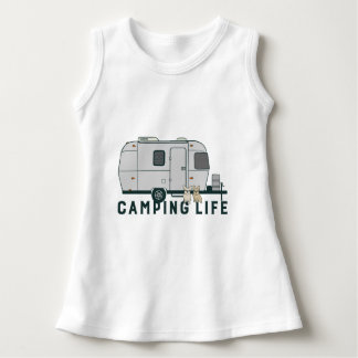 Happy camping life with cute Frenchies Dress