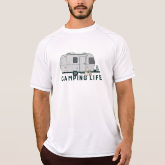 Happy camping life with cute Frenchies T-Shirt