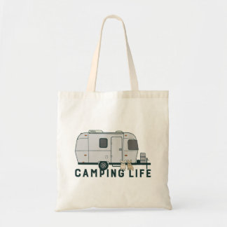 Happy camping life with cute Frenchies Tote Bag