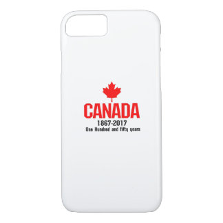 Happy CANADA 150 Years  Canadian Flag Cool iPhone 8/7 Case