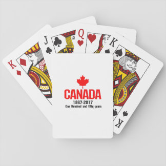 Happy CANADA 150 Years  Canadian Flag Cool Playing Cards