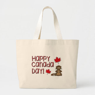 Happy Canada Day 3 Large Tote Bag