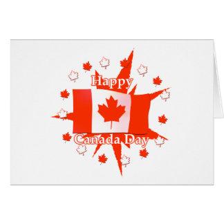 Happy Canada Day Flag Design Card