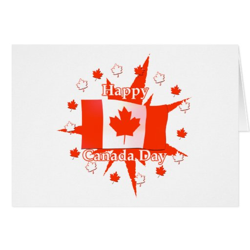 Happy Canada Day Flag Design Greeting Cards Zazzle