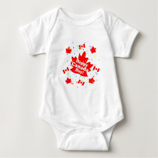 Happy Canada Day Party Baby Bodysuit