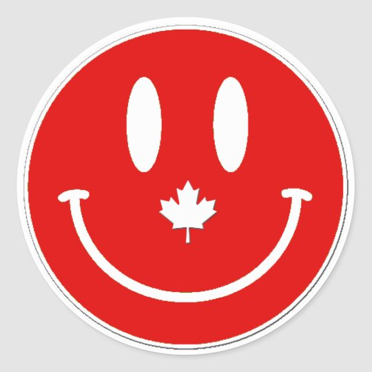 Happy Canadian Canada Day Stickers