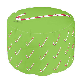Happy Candy Cane Pouf