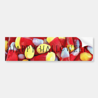 HAPPY candycorn HALLOWEEN Bumper Sticker