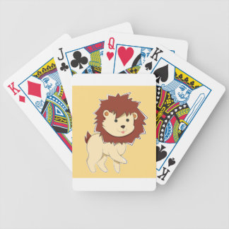 Happy Cartoon Baby Lion Bicycle Playing Cards