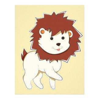 Happy Cartoon Baby Lion Letterhead