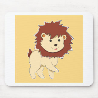 Happy Cartoon Baby Lion Mouse Pad