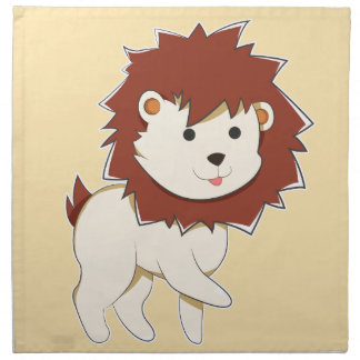 Happy Cartoon Baby Lion Napkin