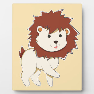 Happy Cartoon Baby Lion Plaque