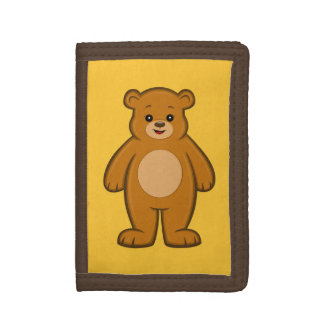 Happy Cartoon Bear Wallet