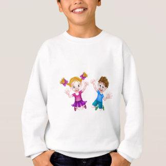 Happy Cartoon Children Jumping Sweatshirt