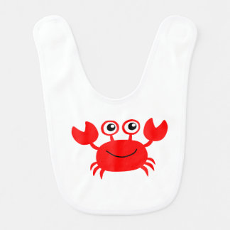 Happy Cartoon Crab Baby Bib