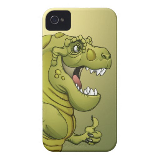 Happy Cartoon Dinosaur Giving the Thumbs Up! iPhone 4 Case-Mate Case
