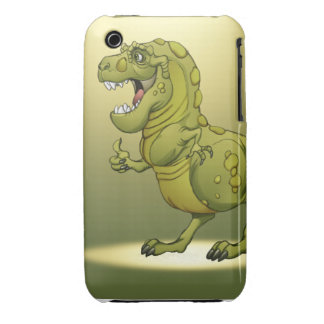 Happy Cartoon Dinosaur Giving the Thumbs Up! iPhone 3 Case-Mate Case