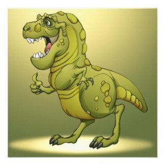 Happy Cartoon Dinosaur Giving the Thumbs Up! Invitations