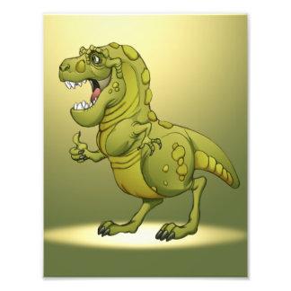 Happy Cartoon Dinosaur Giving the Thumbs Up! Photograph