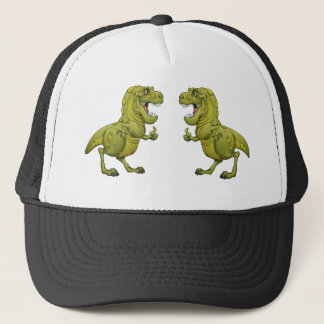 Happy Cartoon Dinosaur Giving the Thumbs Up! Trucker Hat
