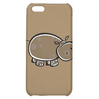 Happy Cartoon Hippo Case For iPhone 5C