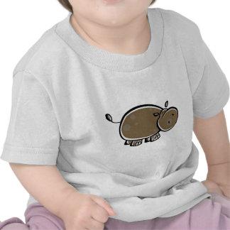 Happy Cartoon Hippo T Shirts