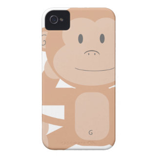 Happy Cartoon Monkey iPhone 4 Cover