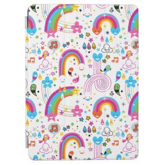 Happy Cartoon Rainbows and Shapes Seamless Pattern iPad Air Cover