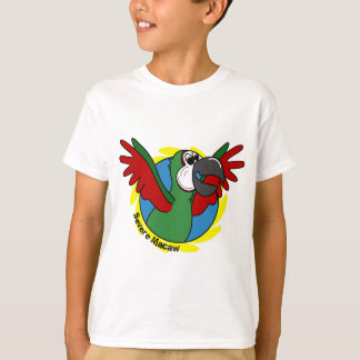 Happy Cartoon Severe Macaw Child's T-Shirt